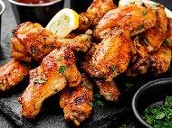 Рецепта Печени Медени пилешки крилца в халогенна фурна